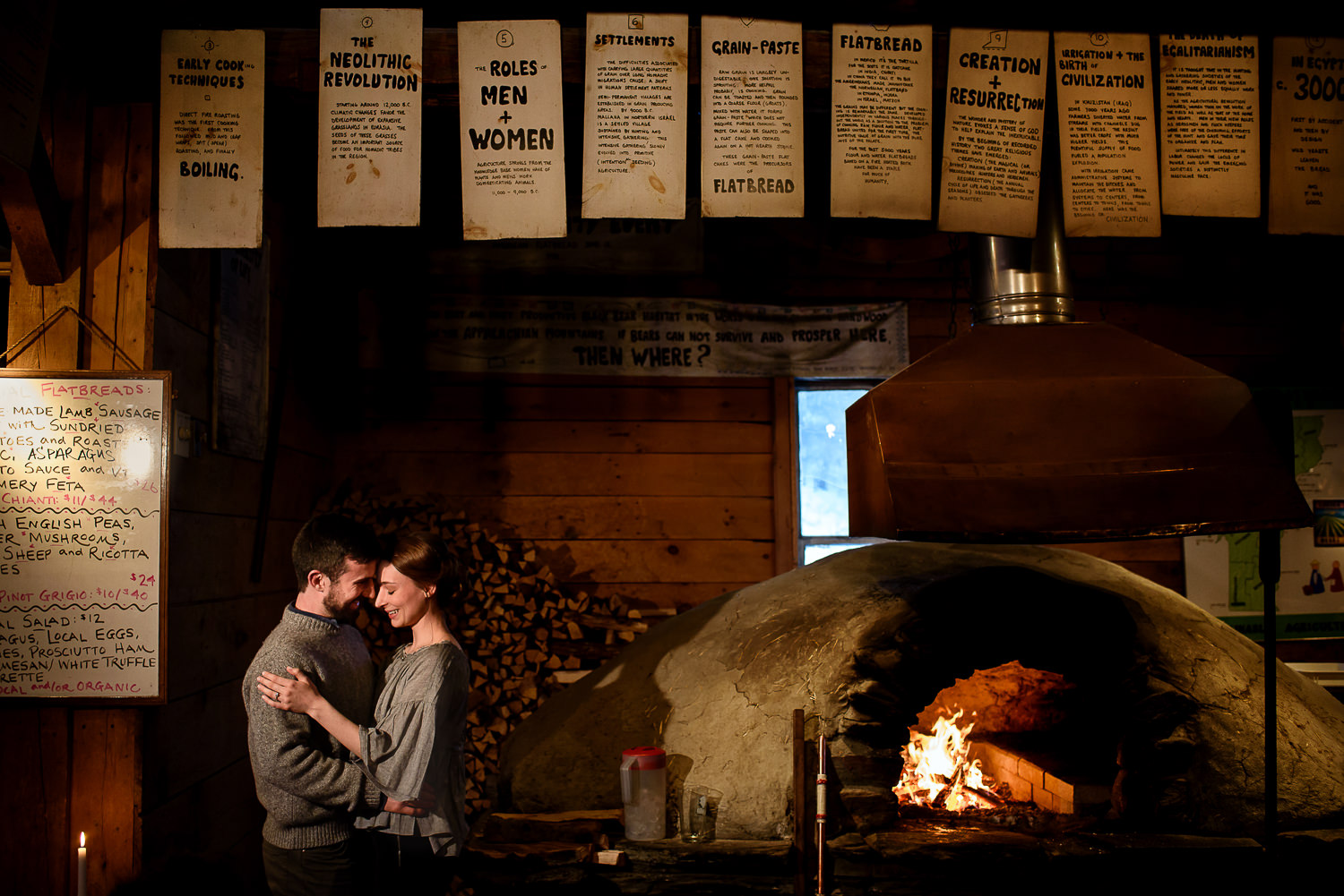 Vermont;Winter;Engagement;Waitsfield;American Flatbread