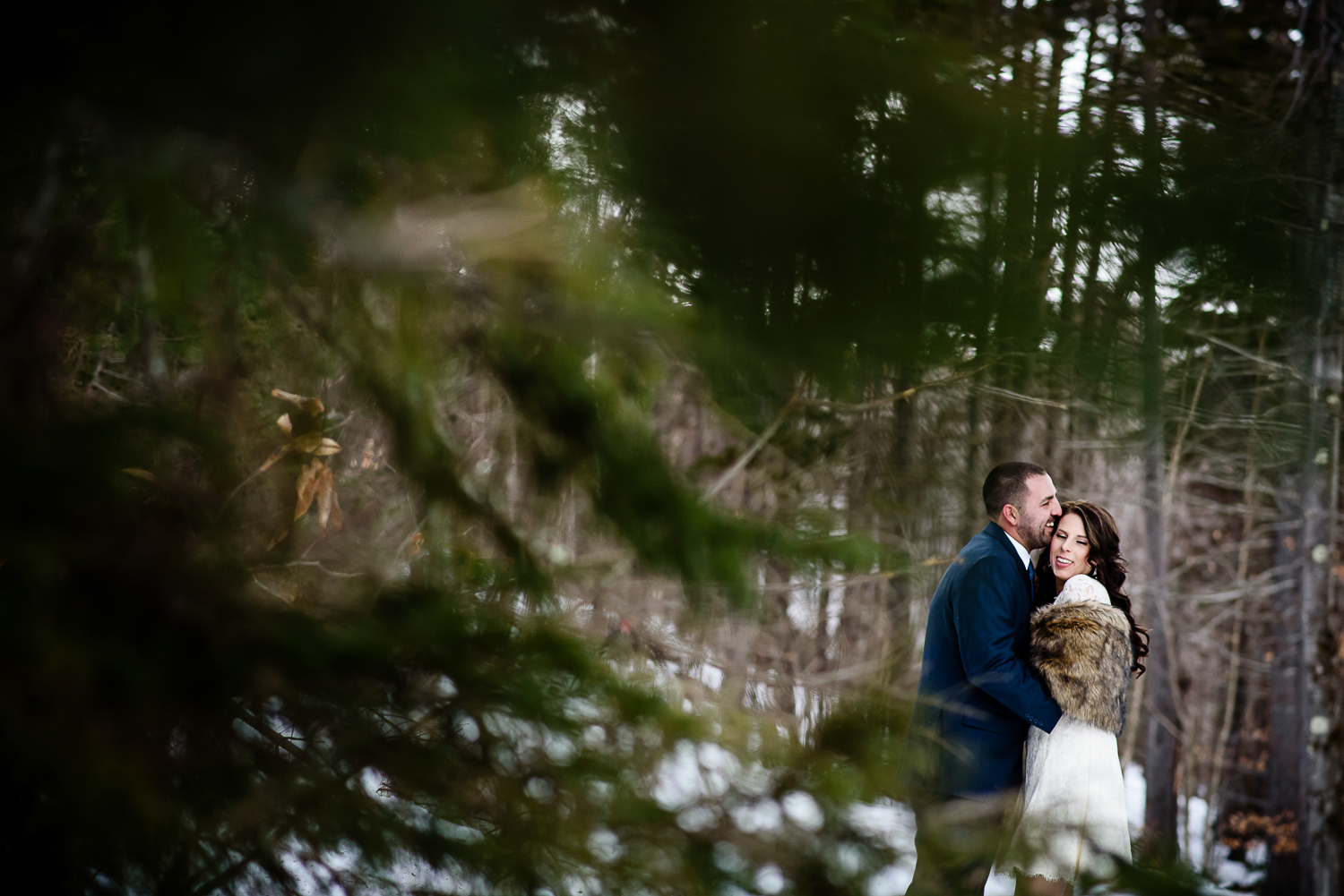Vermont Elopement;Winter;Snow;Mountain Top Inn Wedding