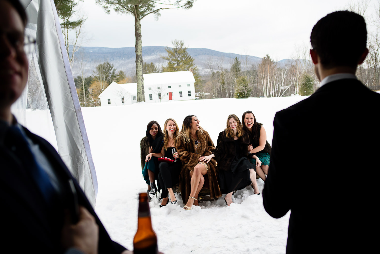 Inn at Manchester;Snow;Vermont Wedding;Winter